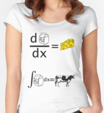 Cool Funny Maths Shirt (Dy/Dx) Women's Fitted Scoop T-Shirt