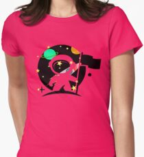 spaceman Womens Fitted T-Shirt