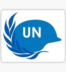 United Nations UN Peacekeepers helmet Sticker