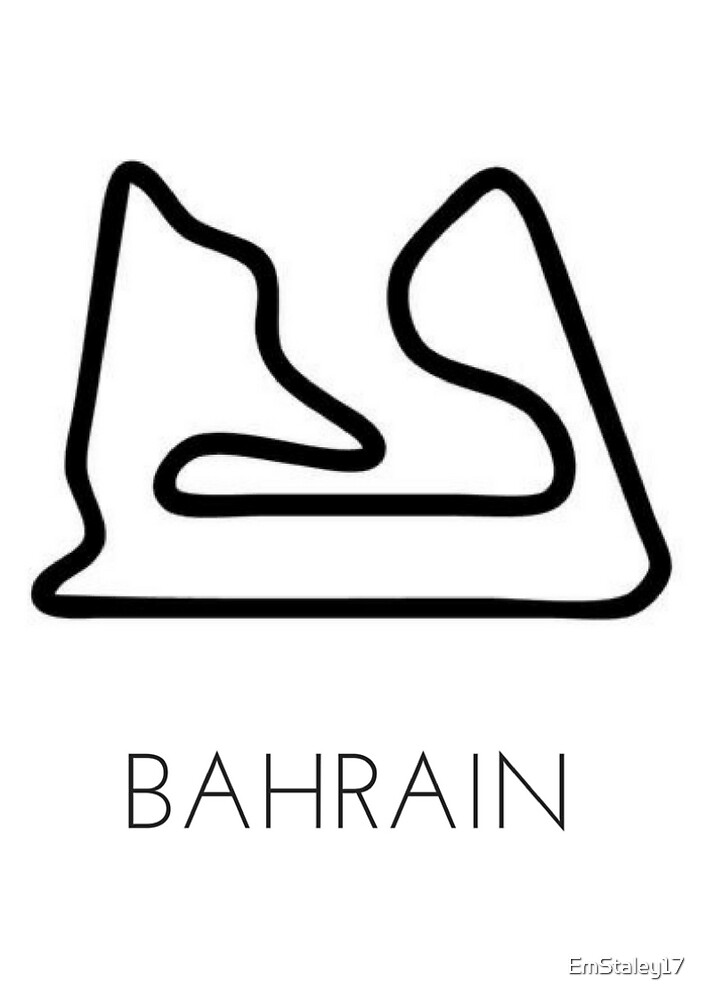 u0026quot bahrain international circuit   track outline  u0026quot  by