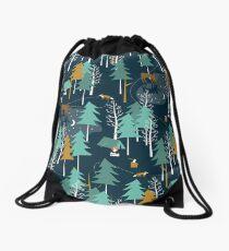 MOONLIGHT, Woodland, Camping, Moose Drawstring Bag