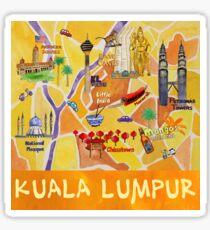 Kuala Lumpur Illustrated Map Sticker