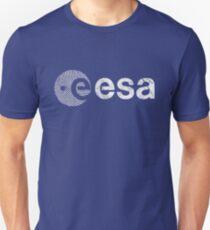 European Space Agency Emblem Vintage White Unisex T-Shirt