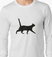 Black Cat Walkin' Long Sleeve T-Shirt