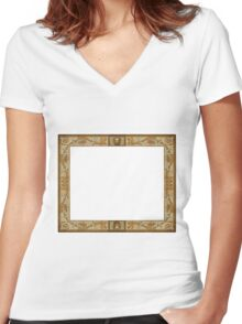 Renaissance Frame - Time Capture Women's Fitted V-Neck T-Shirt