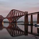 Forth Bridge at Sunset by Maria Gaellman