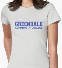 GREENDALE College Jersey (blue) Women's Fitted T-Shirt