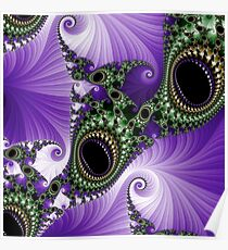 Fabulous Fractals  |  Black Onyx Cabochons  Poster
