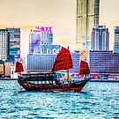 Hong Kong Bat Wing Boat by Paul Thompson Photography