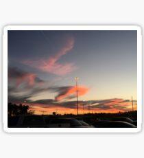 Houston winter sunset Sticker