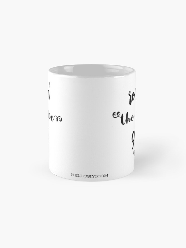 Alternate view of Rockin' the office Classic Mug