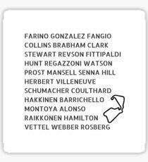 Silverstone Winners Sticker
