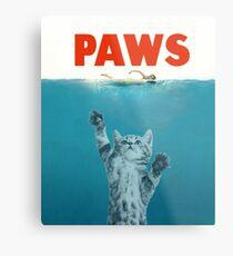 Paws - Cat Kitten Meow Parody T Shirt Metal Print