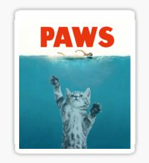 Paws - Cat Kitten Meow Parody T Shirt Sticker