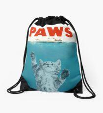 Paws - Cat Kitten Meow Parody T Shirt Drawstring Bag