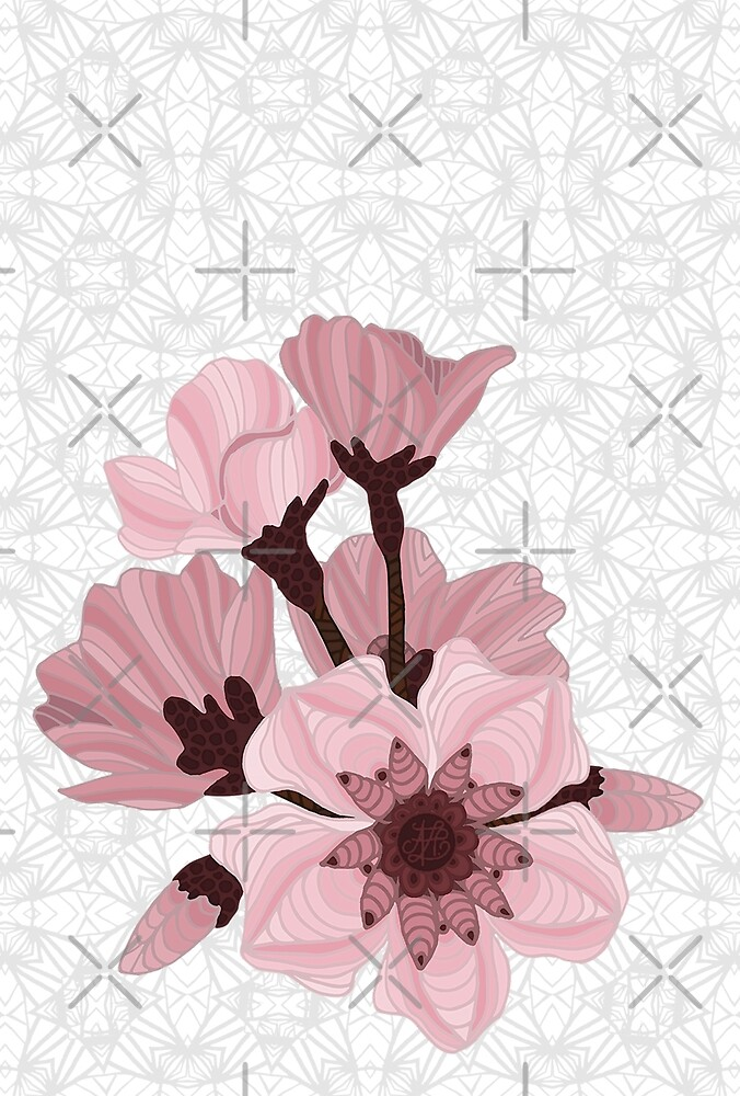Cherry Blossoms - white by artlovepassion