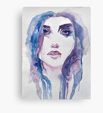 Water color Girl II Canvas Print