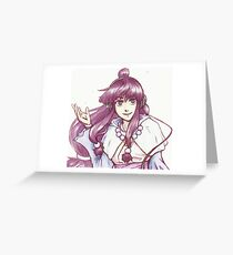 Maya Fey with headphones Greeting Card