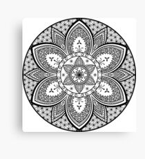 Popular Floral Mandala Design Canvas Print