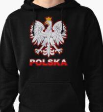 Polska - Polish Coat of Arms - White Eagle Pullover Hoodie