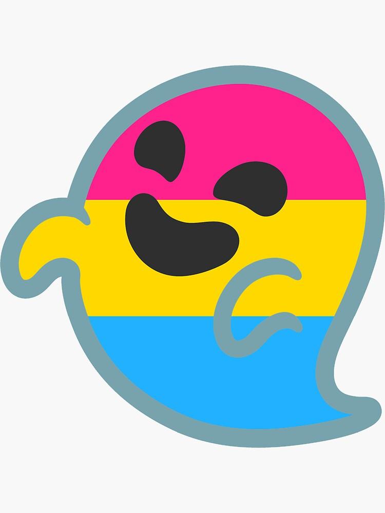 Pan Pride Android Ghost Emoji de baiiley