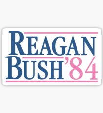 Pegatina Reagan Bush 84 Pink Preppy Republican