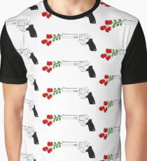 Gun with roses Graphic T-Shirt
