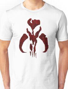 Boba Fett Symbol Mandalorian Mythosaur Skull Unisex T-Shirt