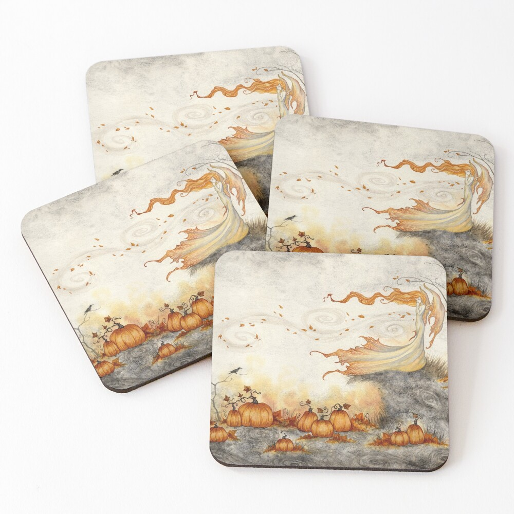 Whispers in the Pumpkin Patch Coasters (Set of 4)
