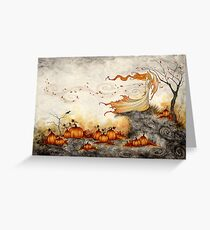Whispers in the Pumpkin Patch Greeting Card
