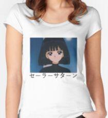 Sailor Saturn : Hotaru Tomoe Women's Fitted Scoop T-Shirt