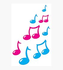 Cute musical notes Photographic Print