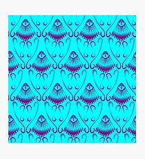 Neoclassical Purple Jellyfish Seamless Pattern Photographic Print