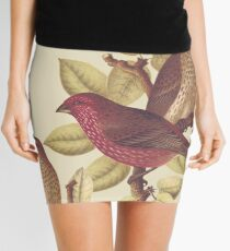 Tropical Birds Design Mini Skirt
