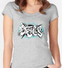 DZYNES Graffiti Cat n Bubbles Women's Fitted Scoop T-Shirt