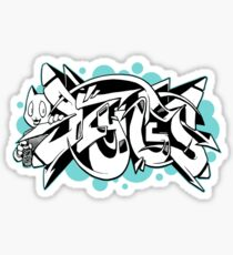 DZYNES Graffiti Cat n Bubbles Sticker