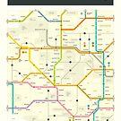 ARIZONA MAP by JazzberryBlue