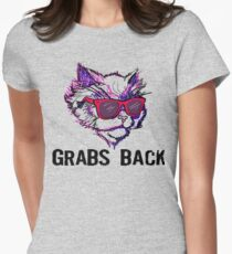 This Kitty Grabs Back Women's Fitted T-Shirt