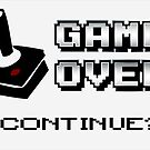 Retro Joystick Game Over by witandwhimsey