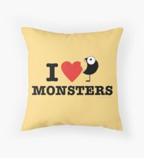 I love monsters Throw Pillow