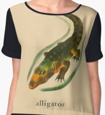 A is for Alligator Chiffon Top