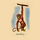 M is for Monkey by dickybow