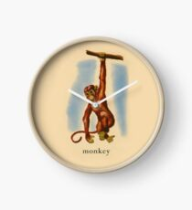 M is for Monkey Clock