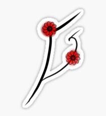 Flowers from japan.  Sticker