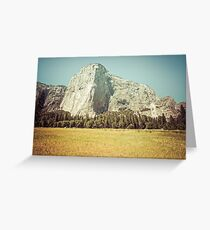 Mountains and Forest - El Capitan in Yosemite National Park Greeting Card