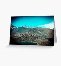 Mountains and Forest - Lake Diablo in North Cascades National Park Greeting Card