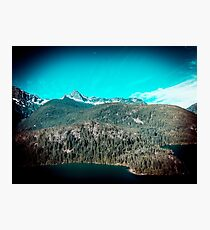 Mountains and Forest - Lake Diablo in North Cascades National Park Photographic Print
