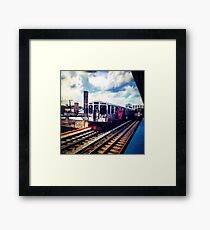 Passing Lane Train Framed Print