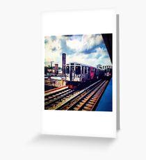 Passing Lane Train Greeting Card