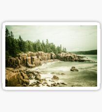 Ocean Forest Sea Water - Rocky Beach in Acadia National Park Maine Sticker